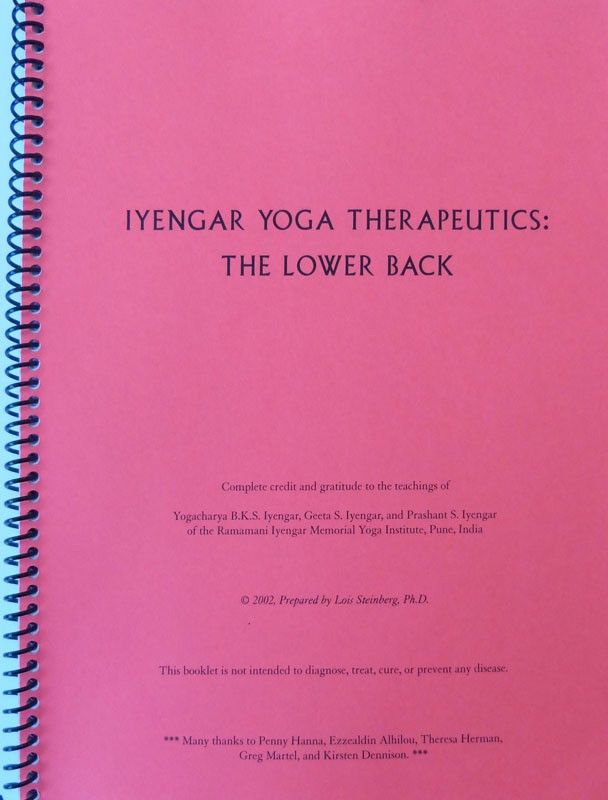 Lois Steinberg Iyengar Yoga Therapeutics – The Lower Back